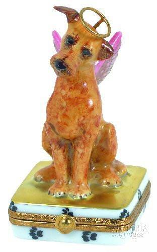 Angelic Dog Limoges Boxes Limoges Boxes Porcelain Figurines Collectibles French Gifts