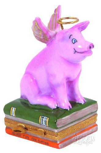 Angelic Pig Limoges Boxes Limoges Boxes Porcelain Figurines Collectibles French Gifts