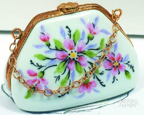 Purse With Chain-fashion purse traditional-Artoria-Limoges Box Boutique