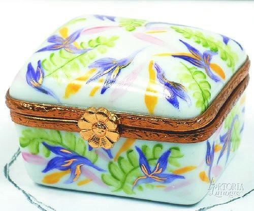 Small Square: Ferns-traditional-Artoria-Limoges Box Boutique