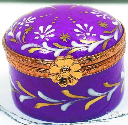 Small Round Limoges Boxes - Limoges Boxes Porcelain Figurines