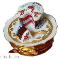 Birthday Cake: 39 Again! Limoges Boxes Limoges Boxes Porcelain Figurines Collectibles French Gifts