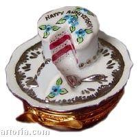 Anniversary Cake: Silver Limoges Boxes Limoges Boxes Porcelain Figurines Collectibles French Gifts