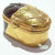 Oval Chocolate W/Gold Limoges Boxes - Limoges Boxes Porcelain Figurines