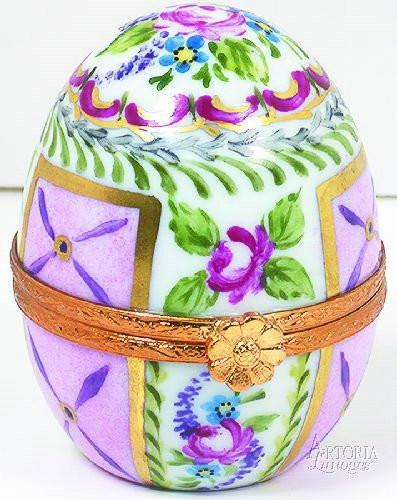 Standing Egg w/ Perfume Bot.-traditional egg fashion perfume-Artoria-Limoges Box Boutique
