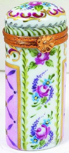 Tall Cylinder:Malmaison Rose-traditional-Artoria-Limoges Box Boutique