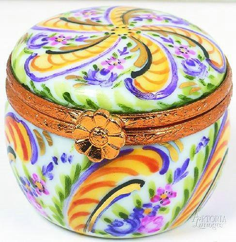 Round Briance Box Limoges Boxes - Limoges Boxes Porcelain Figurines