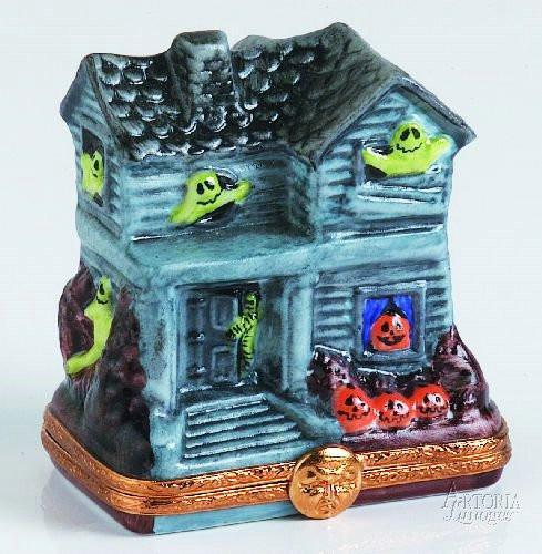 Green Ghost Haunted House Limoges Boxes Limoges Boxes Porcelain Figurines Collectibles Gifts