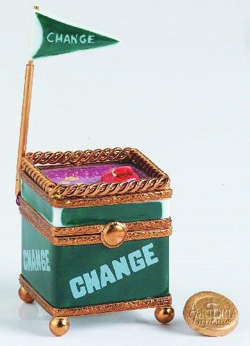 Green Change Cart Limoges Boxes ( Retired - Last Ones ) Limoges Boxes Porcelain Figurines Collectibles Gifts