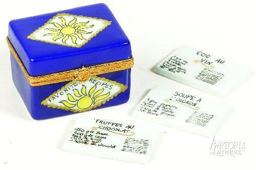 Recipe Box Limoges Boxes - Limoges Boxes Porcelain Figurines