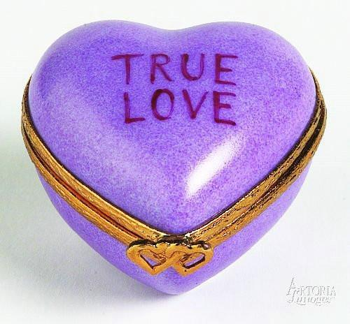 Heart: *True Love* Purple Limoges Boxes Limoges Boxes Porcelain Figurines Collectibles Gifts