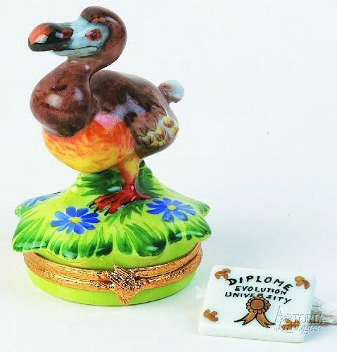 Dodo Bird Diploma Graduation Limoges Boxes - Limoges Boxes Porcelain Figurines