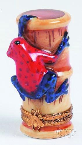 Strawberry Poison Dart Frog-frog-Artoria-Limoges Box Boutique