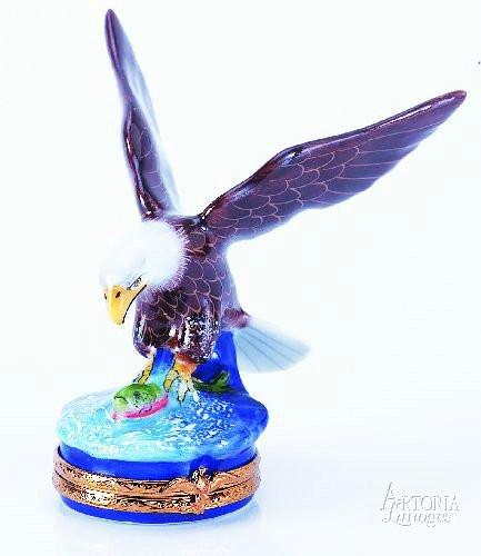 American Bald Eagle Bird Limoges Boxes Limoges Boxes Porcelain Figurines Collectibles French Gifts