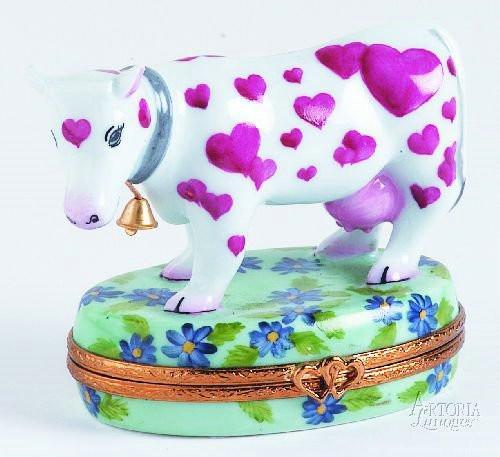 Heart Cow Limoges Boxes Limoges Boxes Porcelain Figurines Collectibles Gifts