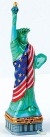 Statue Of Liberty With Flag-united states statue of liberty-Artoria-Limoges Box Boutique