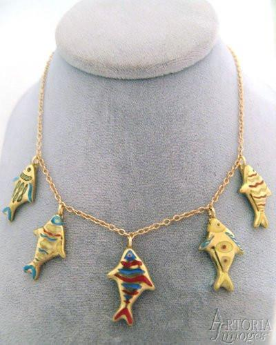 Swimming Fish Necklace-jewelry fashion necklace hat ocean-Artoria-Limoges Box Boutique