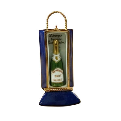 Limoges Paris By Night Gift Bag With Bottle Of Champagne