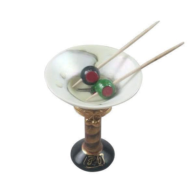 Limoges Martini Glass With Olives Rochard Porcelain Boxes