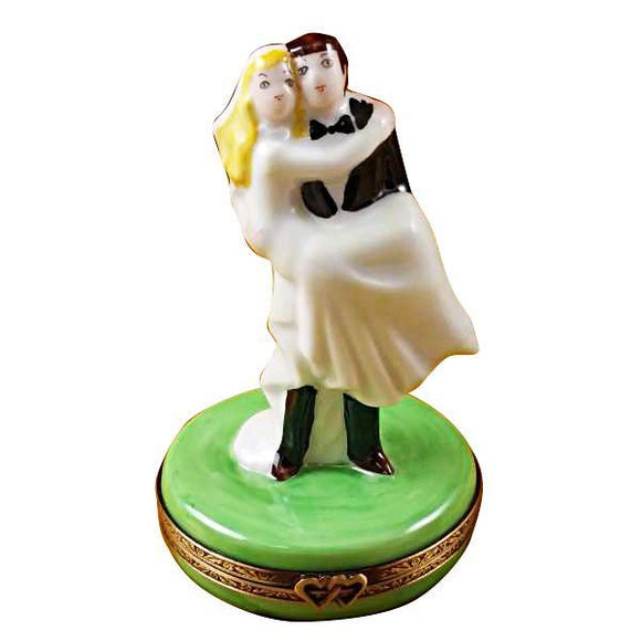 BRIDE AND GROOM LIMOGES BOXES - Limoges Boxes Porcelain Figurines