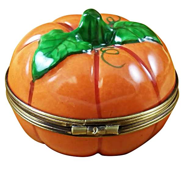 Pumpkin Gold Inside Porcelain Limoges Boxes Limoges-Porcelain-Box
