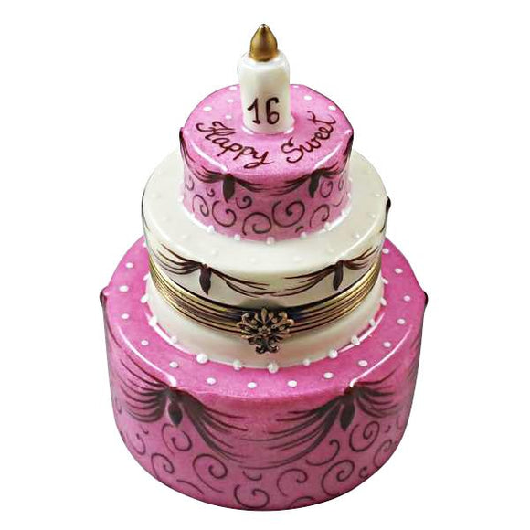 SWEET SIXTEEN BIRTHDAY CAKE LIMOGES BOXES BOUTIQUE