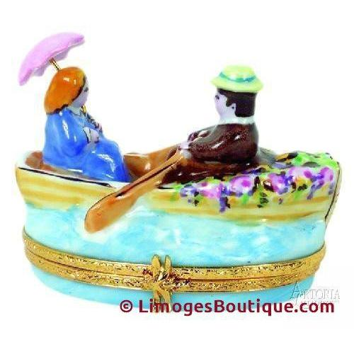 Lovers In Rowboat-art love heart wedding france-Artoria-Limoges Box Boutique