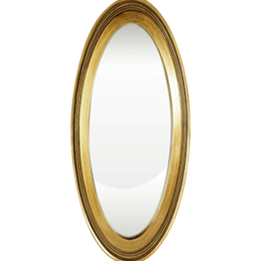 ESPEJO DE PARED CHAFLAN OVAL GD LINEA RUSTIC GOLD