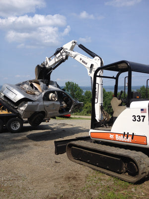 Bobcat 337 & 341 Pin-on Hydraulic Excavator thumb w/ Hoses