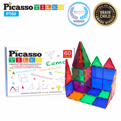 Picasso Tiles - Magnet Building Tiles 60 pieces