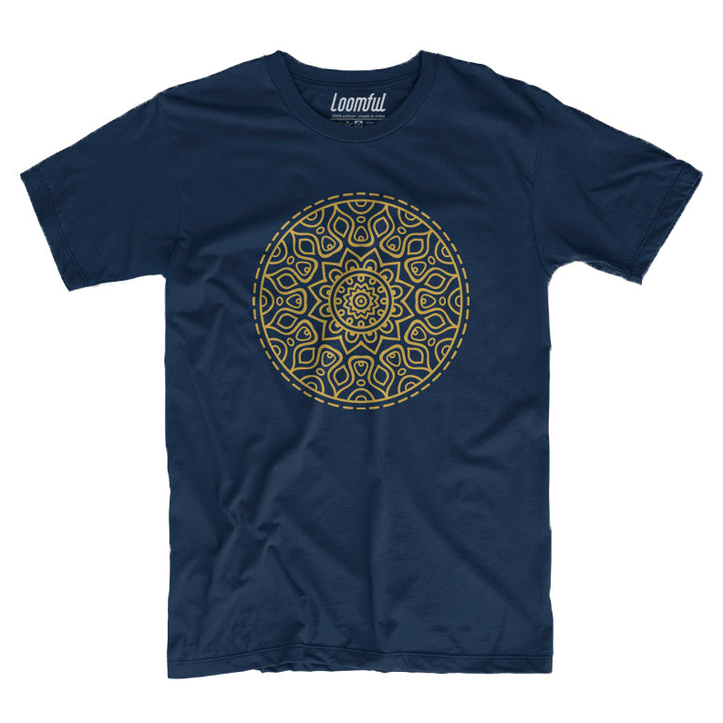 Golden Mandala Men T-Shirt - loomful