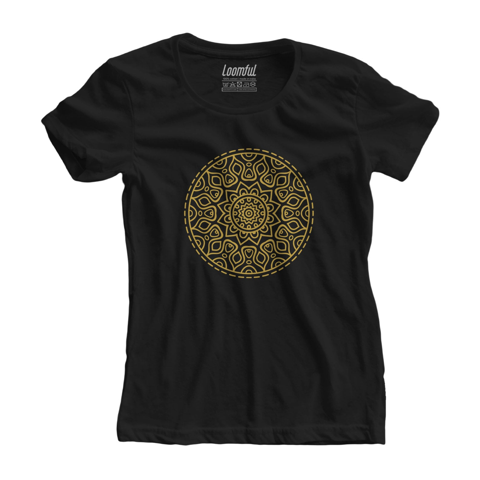 Golden Mandala Women Tee - loomful