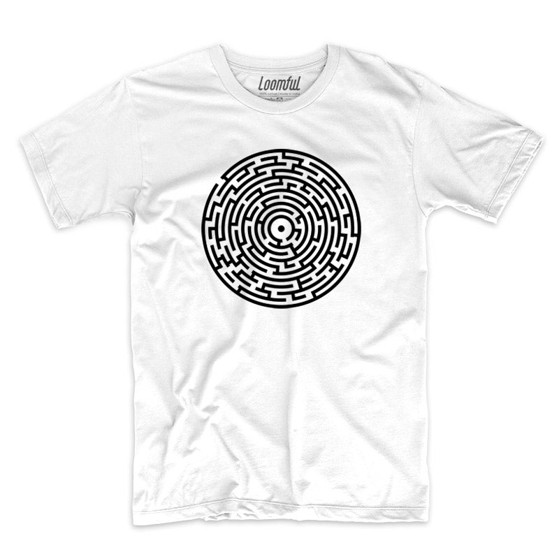 Labyrinth White T-Shirt - loomful