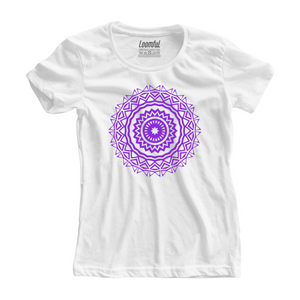 Purple Mandala Women Tee - loomful