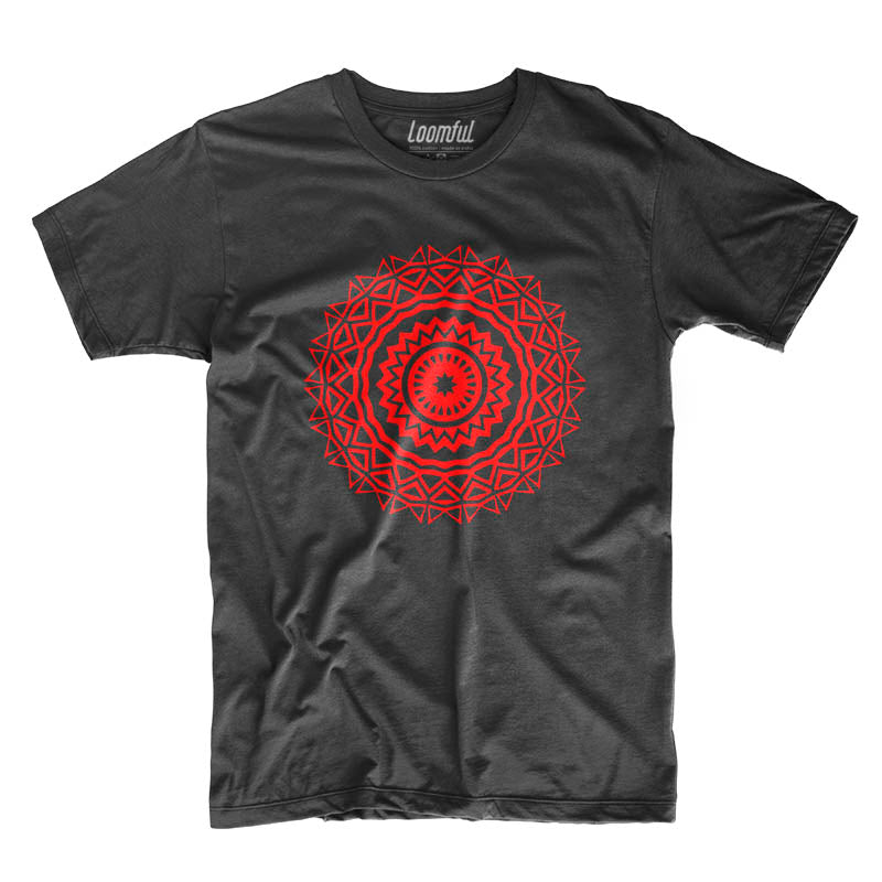 Red Mandala T-Shirt - loomful