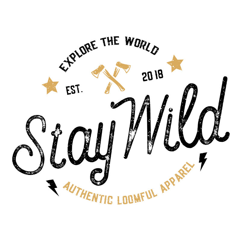 Stay Wild White T-Shirt - loomful