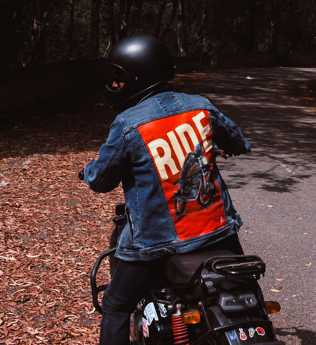 Personalized Hand Painted Rider Denim Jacket - loomful