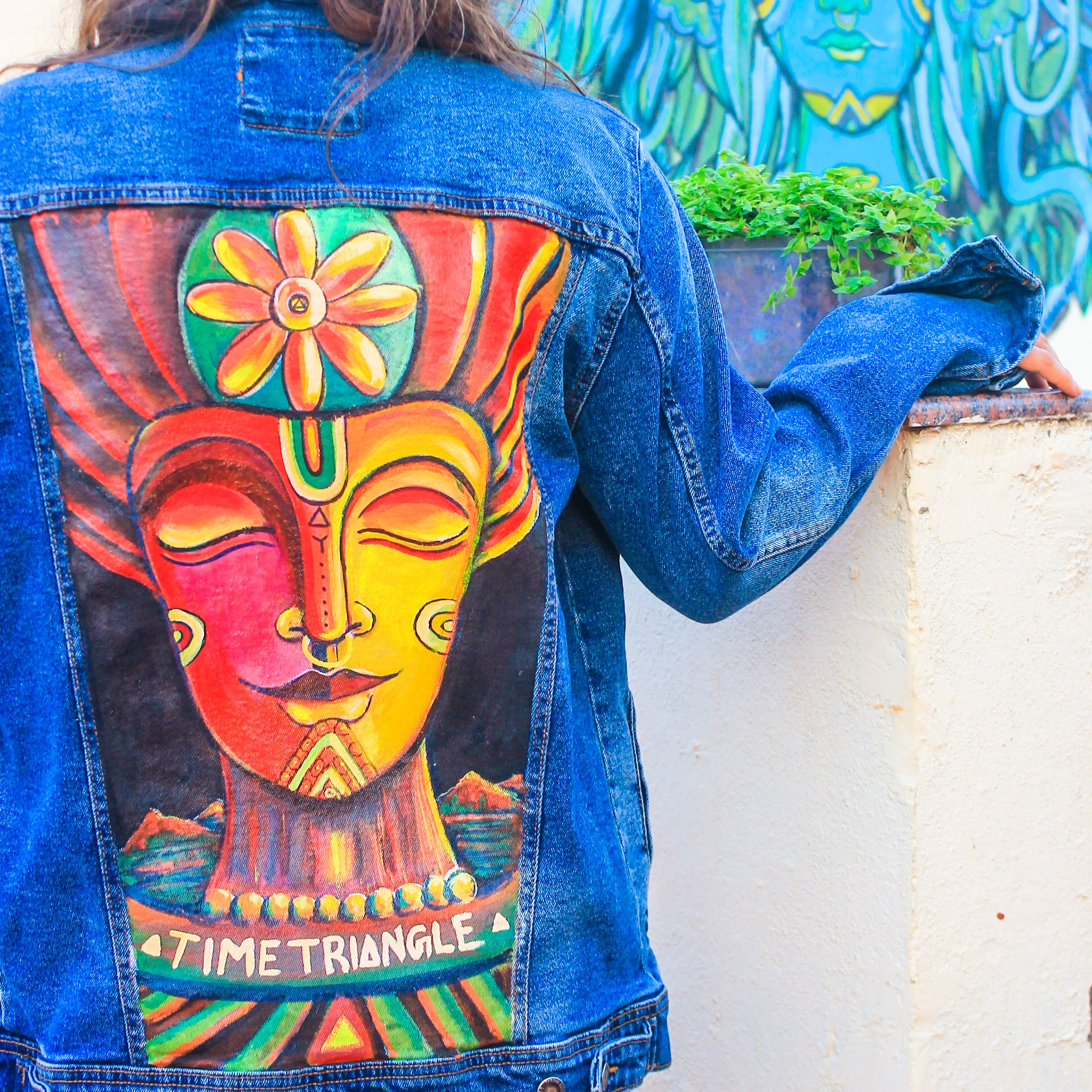 Nature Spirit #2 -  Hand Painted Denim Jacket - loomful