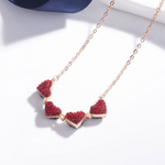 Folding Luxurious Clover Necklace