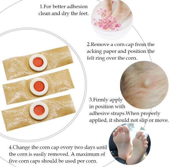Foot Corn Remover Pads 10pcs/ Set (Recover in Just 3 Days !! )