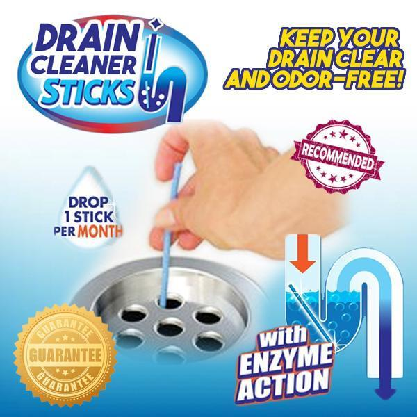 Drain Cleaner and Deodorizer Sticks (12pcs)