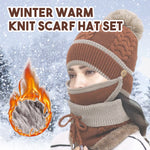 Winter Warm Knit Scarf Hat Set