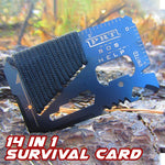 14 in 1 Survival Card