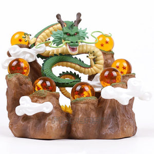 (Limited Edition) Dragon Ball Z Dragon Shenron + Mountain Stand + 7 Crystal Balls