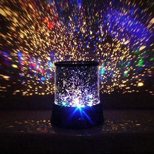 Colorful Starry Night Light Projector