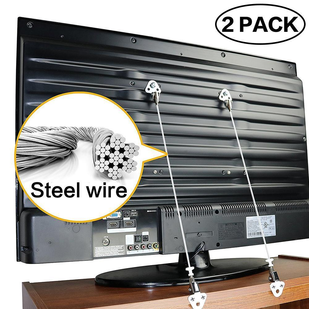 Anti-Tip Straps for Flat TV and Furniture