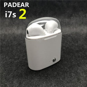 Padear I7S2 Earphones Wireless Bluetooth Earbuds In-Ear Earphone Air Microphone Pods for Iphone 6/7/8 plus Apple Android