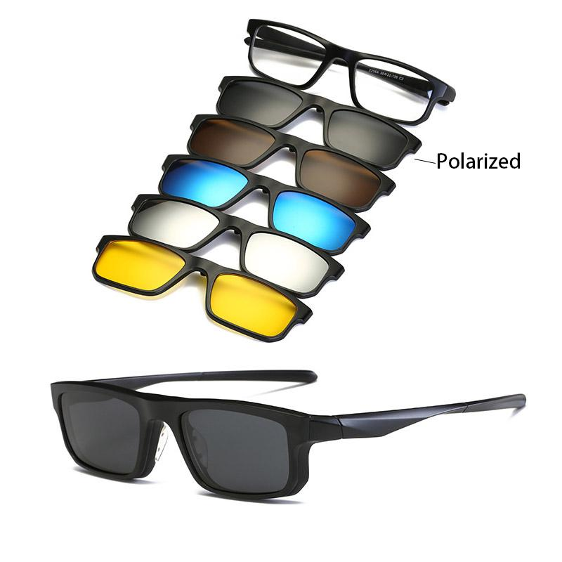 5 in 1 Clip-On Lens Sunglasses