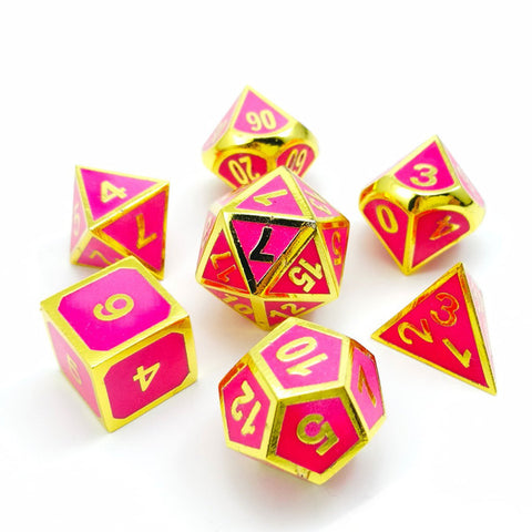 Super Glowing Golden Rose Playing Dice Set