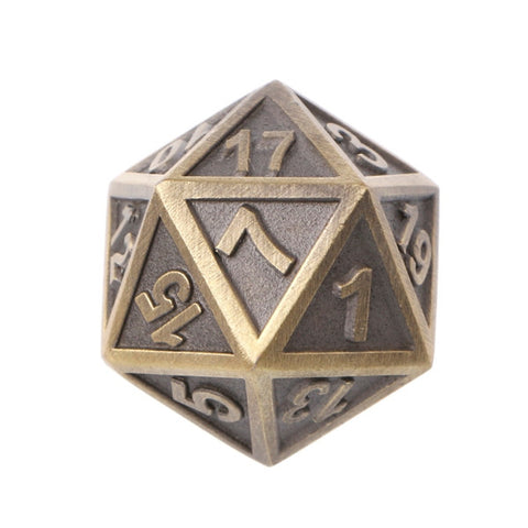 Ancient Copper Metal Playing Dice Set